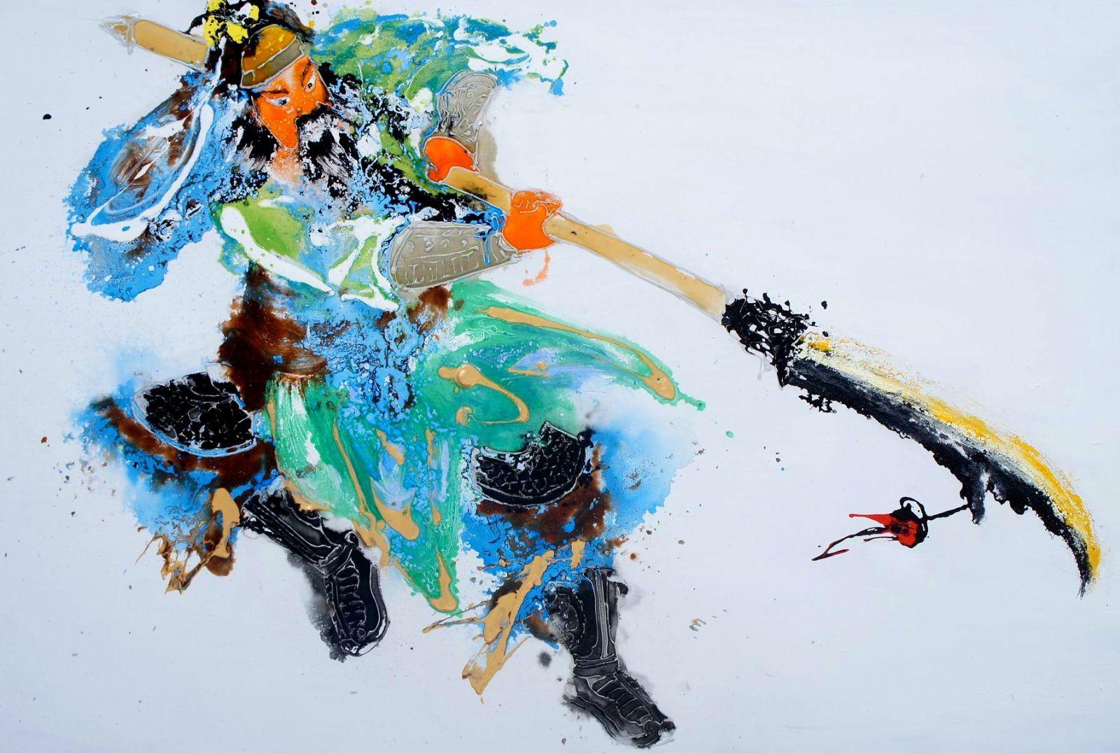 Qunce zeng est un peintre calligraphe le charme for Artiste peintre chinois