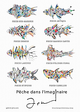 Arnaud Dromigny, Poster Affiche pêche imaginaire - Arnaud DROMIGNY